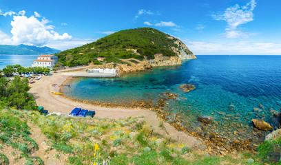 Wall Mural - Enfola headland beach and coast in Elba island, Tuscany,Italy