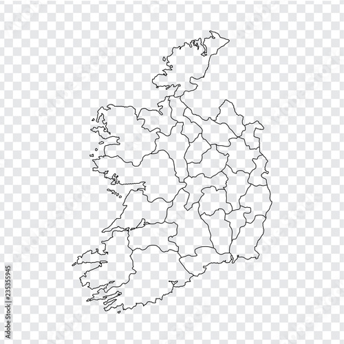 Blank Map Of Ireland.Blank Map Ireland High Quality Map Ireland With Provinces On