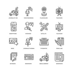 Simple Set of 16 Vector Line Icon. Contains such Icons as Interv