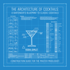Classic Cocktail Construction Blueprint Mixology Bartender Guide
