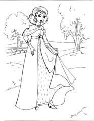 Coloring the Beautiful Princess 17
