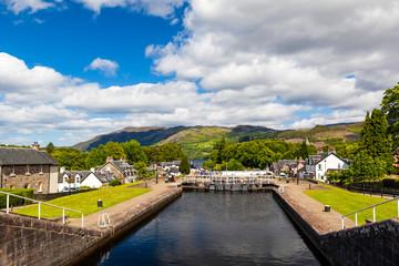 Schottland, Loch Ness, Schleusenanlage in Fort Augustus