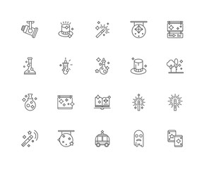Simple Set of 20 Vector Line Icon. Contains such Icons as Cards,