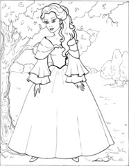 Coloring the Beautiful Princess 21