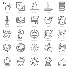 Simple Set of 25 Vector Line Icon. Contains such Icons as Firewo