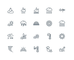Set Of 20 Universal Editable Icons. Includes Elements Such As Wi