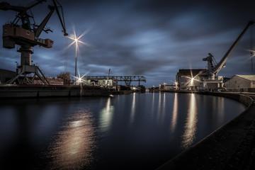 Lindener Hafen am späten Abend in Hannover