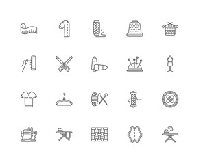 Simple Set of 20 Vector Line Icon. Contains such Icons as Ironin