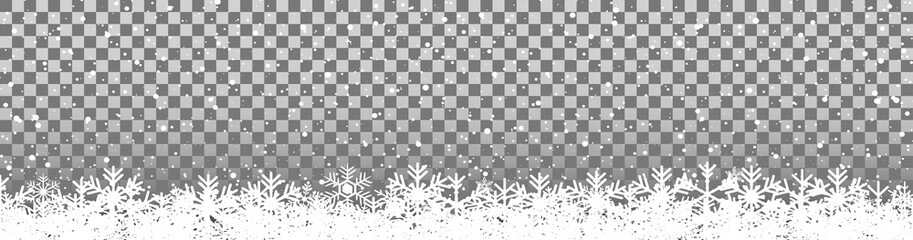 New Year snowflake background - stock vector