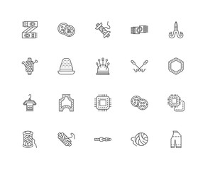 Simple Set of 20 Vector Line Icon. Contains such Icons as Materi