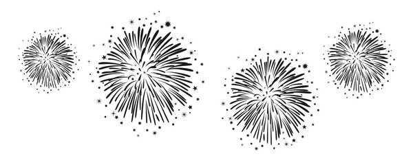Hand drawn fireworks – for stock