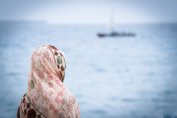 looking at boats