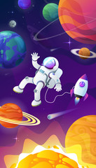Poster Kosmos Universe. space. space trip. design. vector illustration