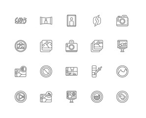 Simple Set of 20 Vector Line Icon. Contains such Icons as Sponge