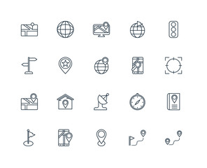 Set Of 20 Universal Editable Icons. Includes Elements Such As Ro