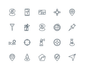 Set Of 20 Universal Editable Icons. Includes Elements Such As Ar