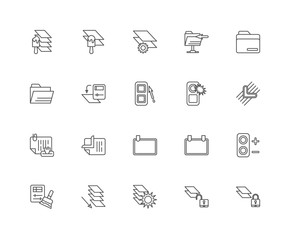 Simple Set of 20 Vector Line Icon. Contains such Icons as Layer,