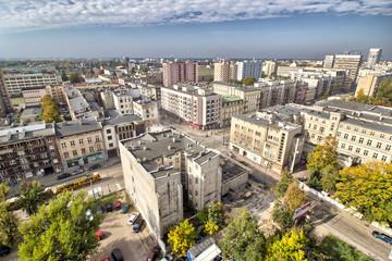 Panorama miasta - centrum - Łódź - Polska