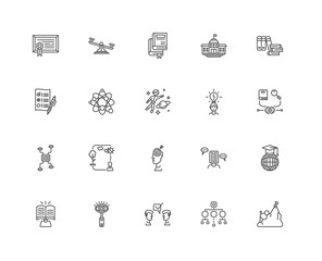 Simple Set of 20 Vector Line Icon. Contains such Icons as Effort