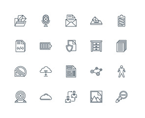 Set Of 20 Universal Editable Icons. Includes Elements Such As Zo