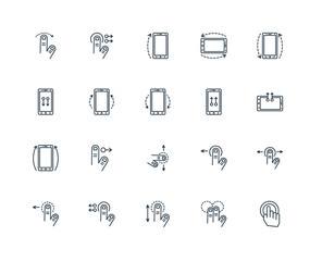 Set Of 20 Universal Editable Icons. Includes Elements Such As Ta