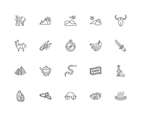Simple Set of 20 Vector Line Icon. Contains such Icons as Hot, F