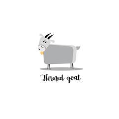Horned goat logo