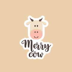 Sticker logo merry cow