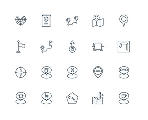 Set Of 20 Universal Editable Icons. Includes Elements Such As Pl