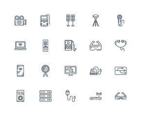 Set Of 20 Universal Editable Icons. Includes Elements Such As Go