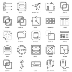 Simple Set of 25 Vector Line Icon. Contains such Icons as Mouse,