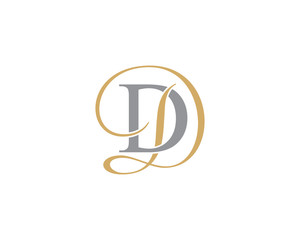 Fototapeta Double Letter D Logo Icon 001 obraz