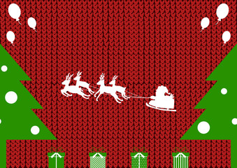サンタクロース ツリー ニット背景