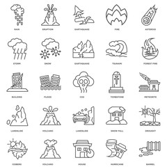 Simple Set of 25 Vector Line Icon. Contains such Icons as Barrel