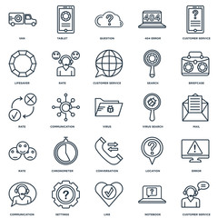 Set Of 25 Universal Editable Icons. Includes Elements Such As Cu