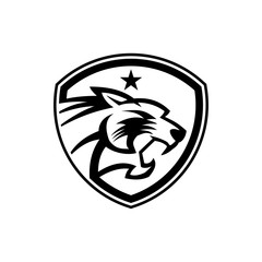 tiger shield gaming tactical logo design