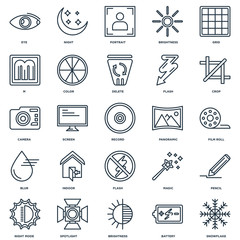 Set Of 25 Universal Editable Icons. Includes Elements Such As Sn