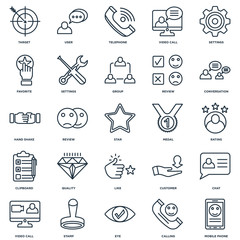 Set Of 25 Universal Editable Icons. Includes Elements Such As Mo