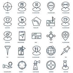 Set Of 25 Universal Editable Icons. Includes Elements Such As Po