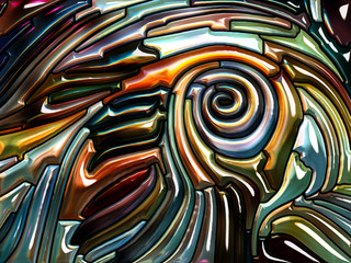Petals of Iridescent Glass