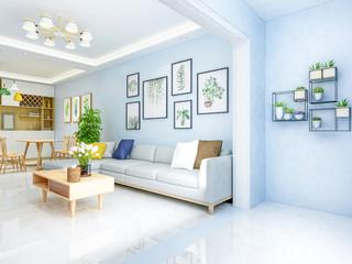 Modern sleek minimalist elegant living room design