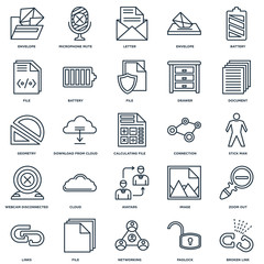 Set Of 25 Universal Editable Icons. Includes Elements Such As Br
