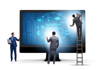 Concept of quantum computing with businessman