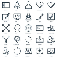Set Of 25 Universal Editable Icons. Includes Elements Such As Ga