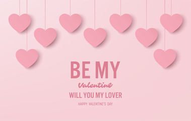 happy valentine's day banner vector design
