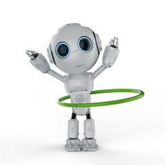 robot play hula hoop