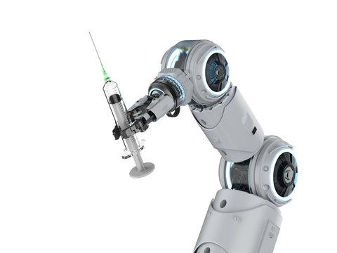 robot with syringe
