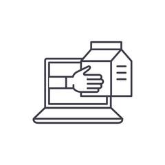 Express delivery service line icon concept. Express delivery service vector linear illustration, sign, symbol