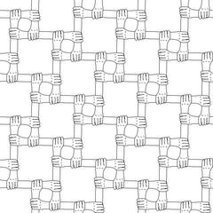Hands seamless pattern