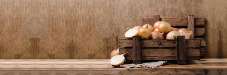 Fototapeta Large raw organic onions obraz